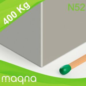 Blockmagnet Industrie-Magnete Grade N52 vernickelt 65x65x30mm Neodym Quadermagnet