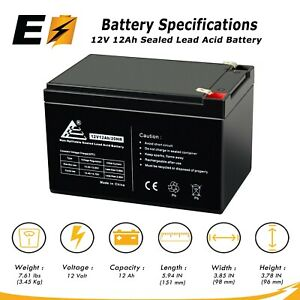 Mighty Max Battery 12V 12AH SLA Battery Replaces APC BackUPS Pro BP650SX107-10 Pack Brand Product