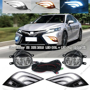 details about for toyota camry se xse 2018-2019 led drl turn signal lamp  fog light wiring kit