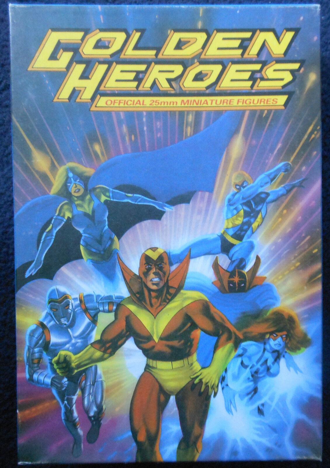 1984 golden Heroes Super Villains GH2 Boxed Set Citadel Pre Slotta C40 Hero MIB