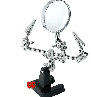 Hands Free Magnifier Helping Hand Magnifying Glass DIY Electrical Circuits Hobby