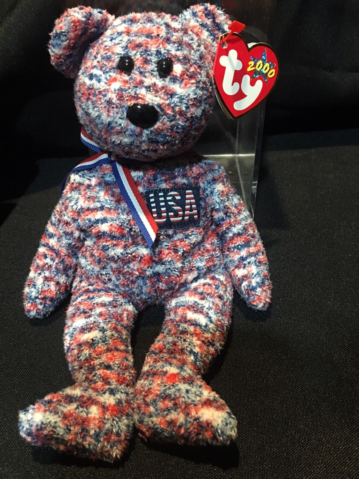 Brand New Ty Beanie Babies USA the Bear 2000 Collectible Patriotic