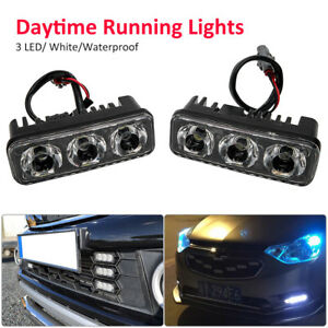 2PCS-Waterproof-Car-DRL-6LED-Daytime-Running-Light-Driving-Fog-Lamp-Super-White