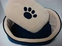 Puppy Dog Cat Kitty Pet Bed Cushion Paws2claws Blue Comfy Soft House 16x13x5 Xs