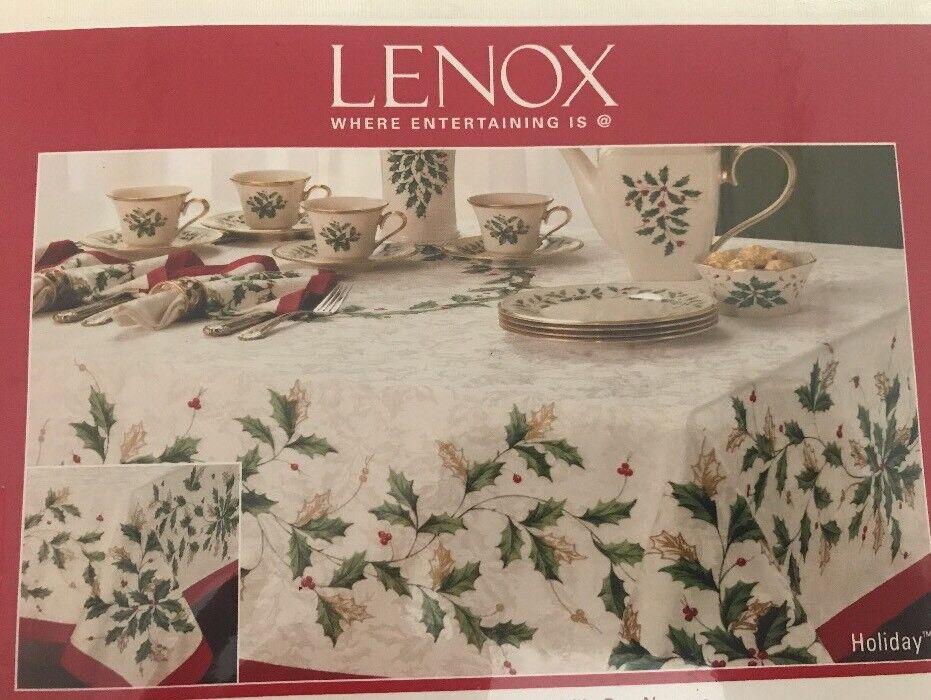 Lenox Holiday Ivy OVALE Nappe 60x84 coton polyester NOUVEAU PDSF  80