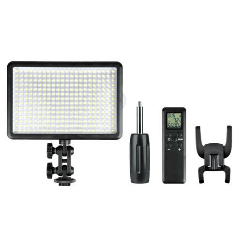 Hot-Shoe Mountable LED Video Light Panel Three Head Kit Dimmable Continuous