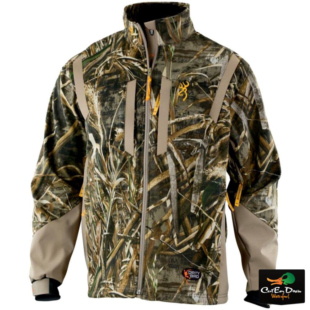 marróning Dirty Bird Viento matar chaqueta a prueba de abrigo Realtree max-5 Camo Grandes