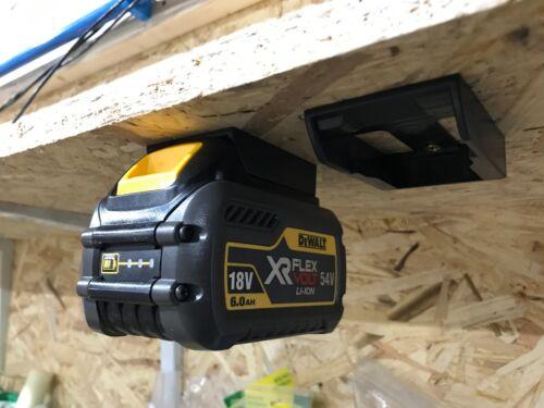 2x Orange Batterie Mounts pour DEWALT 18 V XR 54 V flexvolt Li Ion Batteries Holder