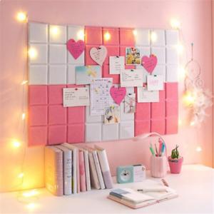 Memo Photo Display Wall Decor Felt Letter Board Message Label Hexagon Stickers