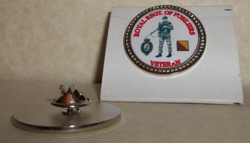 HM Armed Forces Royal Regiment of Fusiliers {SLR}Veteran Lapel pin badge.