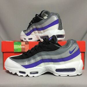 pretty nice 1f972 ec63f Details about Nike Air Max 95 UK9 749766-110 EUR44 US10 Persian Violet  white black grey bw og