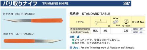 Tsubosan Modification des fichiers Parage Couteau droit et gauche 397 Japon