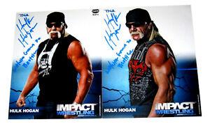 Wwe Tna Hulk Hogan 8X10 Handsigniert Promo Fotos Mit Bild Beweis Und COA