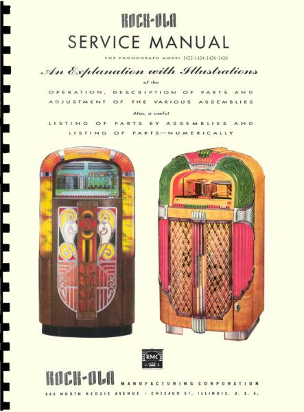 Apprensivo Manuale Completo (manual) Jukebox Rock-ola 1422 - 1424 - 1426 - 1428 (juke Box)