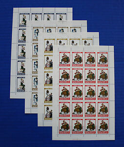 Hungary (#2716-2719) 1982 Norman Rockwell Illustrations sheet set