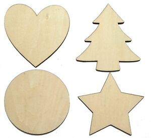 Solid-Wooden-Craft-Shapes-Hearts-Wood-Tags-Star-Circle-Christmas-Tree-Heart