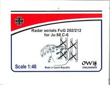 Owl Decals 1/48 RADAR AERIALS FuG 202/212 EARLY VERSION for the JUNKERS Ju-88C-6