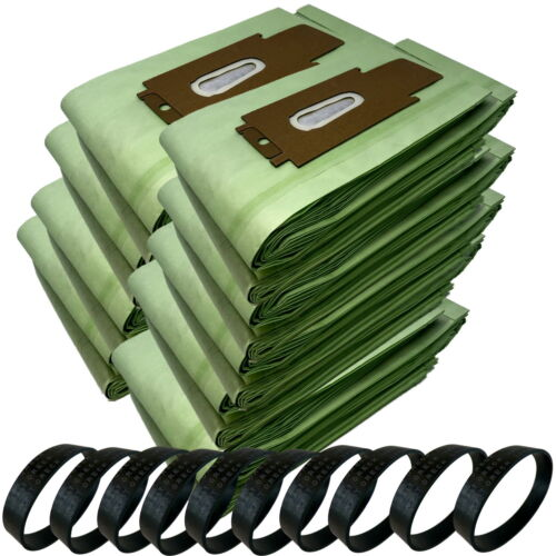 100 Type CC Green Double Wall Bags 10 Belts for Oreck Upright Vacuum Cleaner