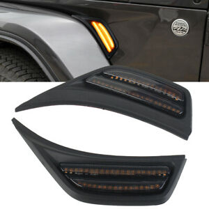 LED-Front-Fender-Side-Marker-Light-Turn-Signal-Lamp-For-Jeep-Wrangler-JL-18-19