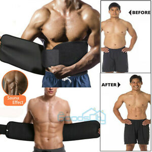 Men Waist Trimmer Belt Sweat Wrap Tummy Stomach Weight Loss Fat Burner Slimming