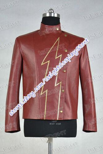 Jason Peter Jay Garrick Cosplay Costume Leather Coat 2014 TV series Flash