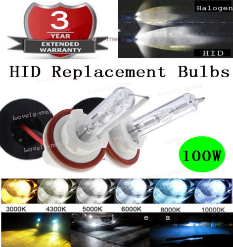 100W H7 Xenon HID Headlight Replacement Bulb Light Lamp 3K 5K 6000k 8000k 10000k