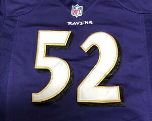 Details about RAY LEWIS 52 Baltimore Ravens Embroidered Stiched Jersey Nike Elite Kids M B23