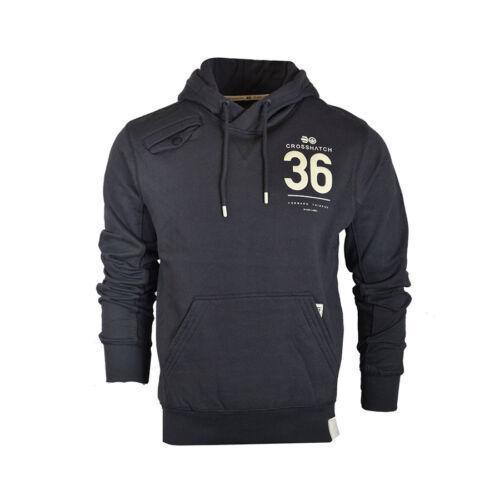 Mens Crosshatch Designer Casual Pullover Hoodie Sweatshirt