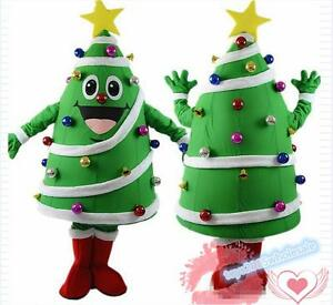 Tall Christmas Tree Cartoon.Details About Cartoon Christmas Tree Mascot Costume Festival Cosplay Fancy Xmas Dress Outfits