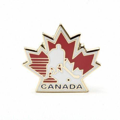 New Canada Hockey Maple Leaf Lapel Pin Badge .