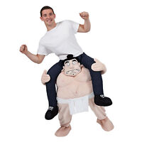 Carry Me Sumo Wrestler Funny Adults Mascot Fancy Dress Up Party Charity Costume