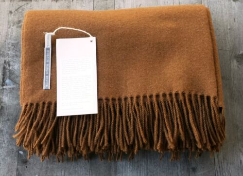 Alicia Adams 100% Baby Alpaca Throw Cognac – Ret. $450 New