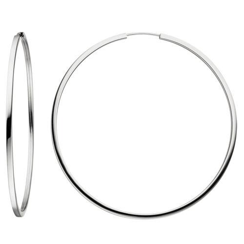 NEU 64,5 mm Creolen Ohrringe 925 Echt Silber Ohrschmuck Ohrring BIG GROß