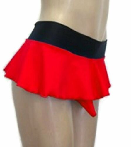 Sissy Thong Panties With Skirt And Sheath Red Crossdresser