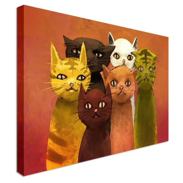 Abstract Cats  Canvas Wall Art prints high quality