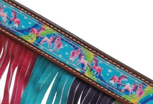 Showman PONY Leather Bridle /& Breast Collar Set w// RAINBOW PONY Design NEW TACK