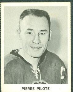 Pierre-Pilote-1965-66-Coke-Coca-Cola-039-65-NHL-Hockey-Card-EX-Chicago-Black-Hawks