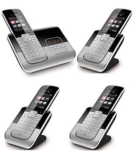 telekom sinus a806 schnurlos telefon 4 mobilteilen. Black Bedroom Furniture Sets. Home Design Ideas