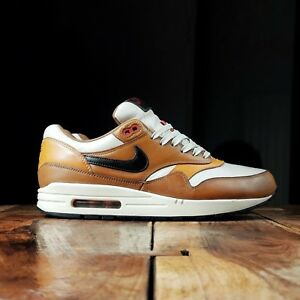 sélection premium a8b28 754bd Détails sur Nike Air Max 1 Escape QS Curry Cuir UK 9 rare Atmos patta parra  90 95 97 98 👟- afficher le titre d'origine