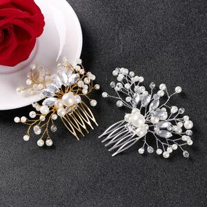 Crown-Accessories-Rhinestone-Tiara-Pearl-Hair-Pin-Bridal-Clips-Hair-Combs