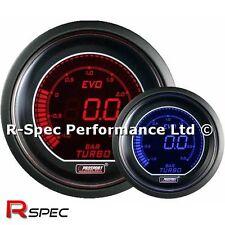 GENUINE Prosport 52mm Evo Blue / Red Display LCD Digital Turbo Boost Gauge - BAR