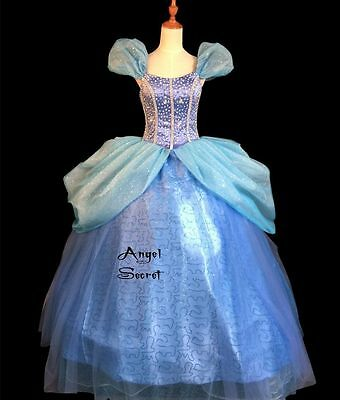 FP131 COSPLAY Dress Princess Cinderella Costume tailor made kid adult GOWN