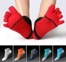 6 Pairs Men's five finger toe Socks Cotton Ankle Casual Sports Low Cut Breathe