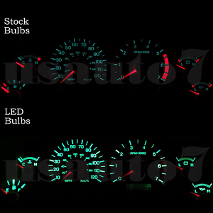Image Is Loading Dash Instrument Cer Gauge Green Led Lights Bulbs