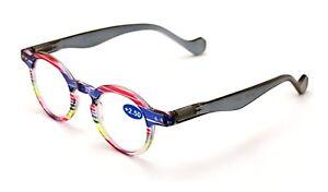 Professor-Round-Circle-Reader-Spring-Hinges-Men-Women-Translucent-Reading-glasse