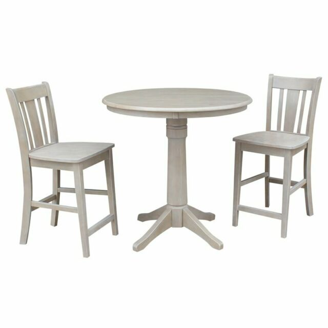 Pleasing 36 Round Pedestal Gathering Height Table With 2 San Remo Counter Height Stools Beatyapartments Chair Design Images Beatyapartmentscom