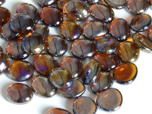 10 x Glass Pebbles in a Choice of Colours