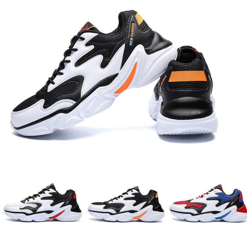 Mens Outdoor Match color Breathable Sport Low Top Lace Up Hiking Sneakers shoes