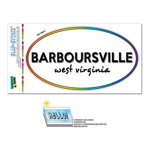 Rainbow Euro Oval Window Laminated Sticker West Virginia WV City State Ald Rip