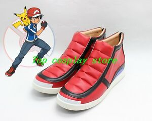 242d187c46b2 Pokemon Pocket Monsters XY Ash Ketchum cos Cosplay Shoes Boots shoe ...